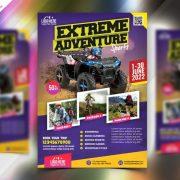 Outdoor Adventure Bike Free PSD Flyer Template