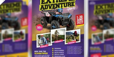 Outdoor Adventure Bike Free PSD Flyer Template
