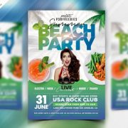 Party in Beach PSD Free Flyer Template