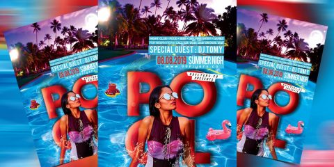 Pool Party PSD Free Flyer Template