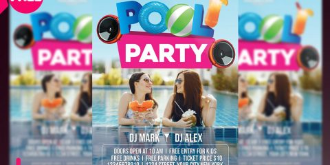Pool Vibe PSD Free Flyer Temlpate