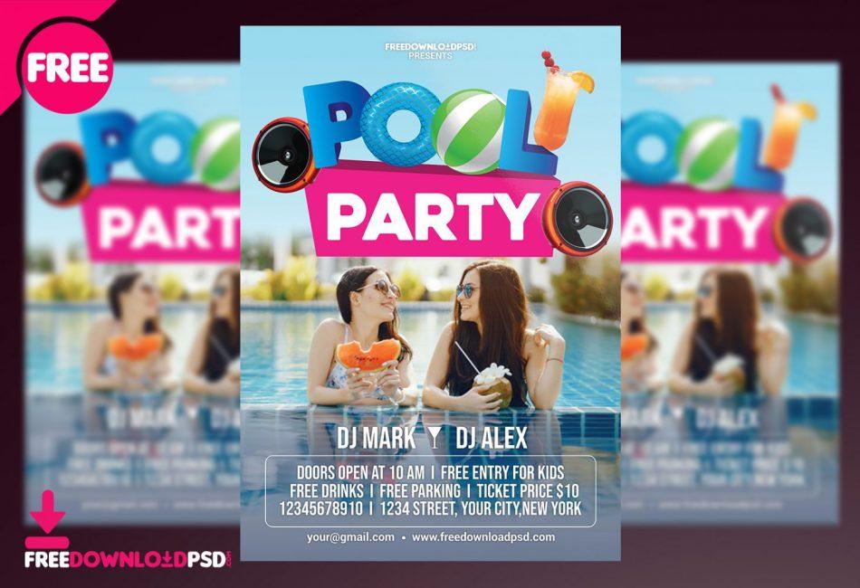 Pool Vibe PSD Free Flyer Temlpate