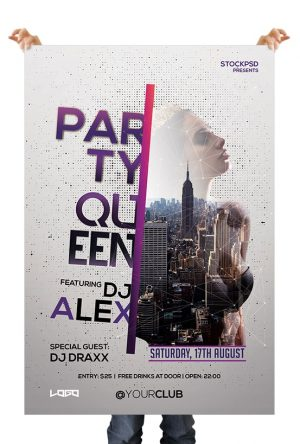 Queen Night Free PSD Flyer Template