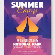 Summer Camp Freebie PSD Flyer Template