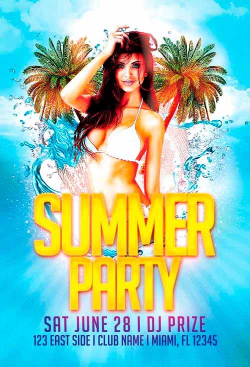 Summer Event Freebie PSD Flyer Template