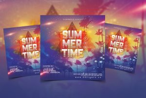 Summer Fever Free Instagram PSD Flyer Template