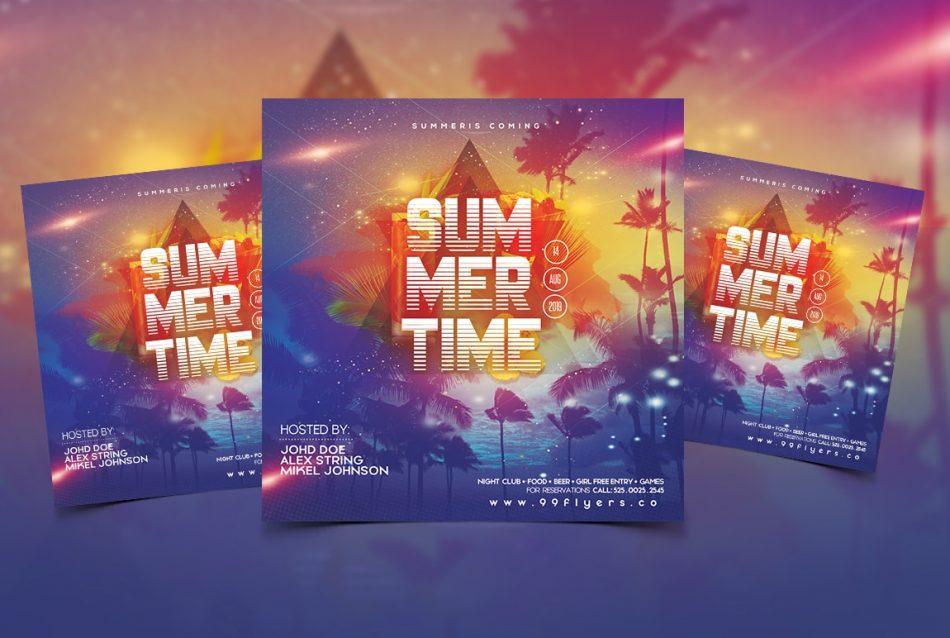 Summer Fever Free Instagram PSD Flyer Template