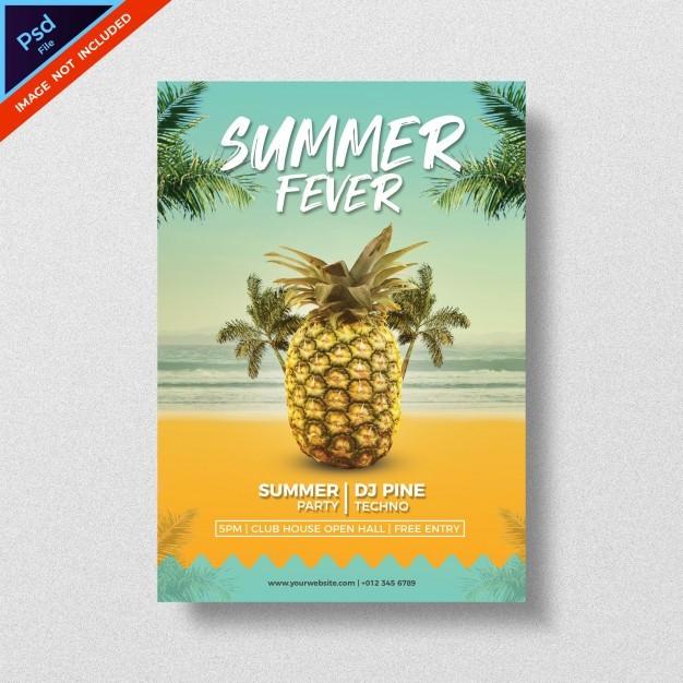 Summer Fever PSD Free Flyer Template