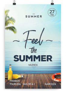 Summer Ocean PSD Free Flyer Template