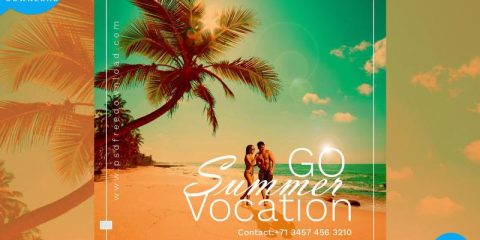 Summer Vocation Free PSD Flyer Template