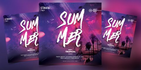 The Summer Vibe PSD Free Flyer Template