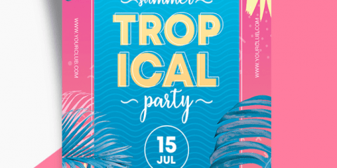 Tropical Day PSD Free Flyer Template