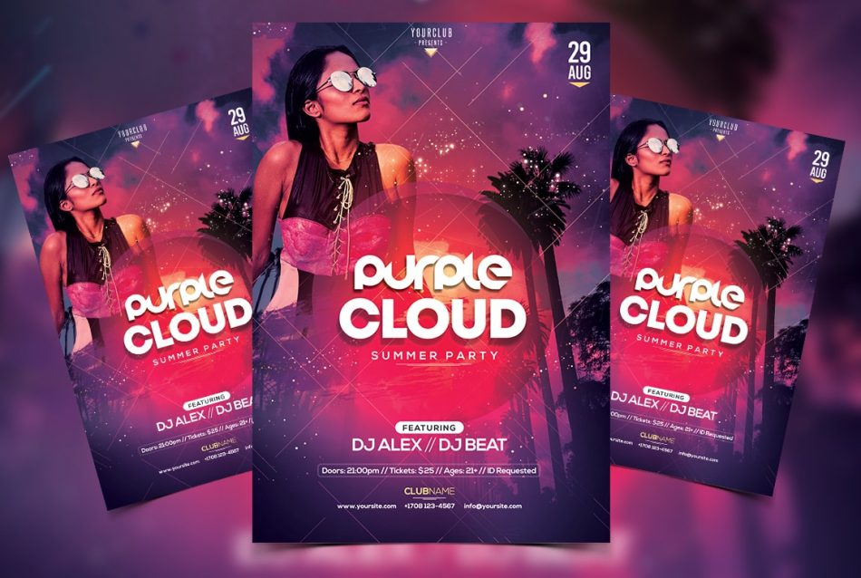 Tropical & Vibes - Free Party PSD Flyer Template