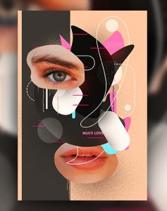 Creative Abstract PSD Free Flyer Template