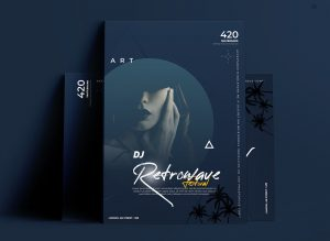 Vibe Party PSD Free Flyer Template