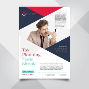 Accounting and Tax Free PSD Flyer Template