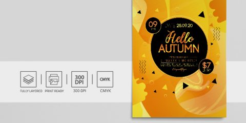 Autumn Fall Festival Free PSD Flyer Template