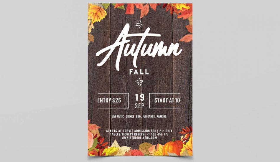 Autumn Fall Free PSD Flyers Template