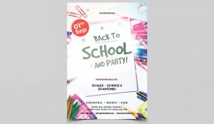 Back 2 School Event PSD Free Flyers Templates