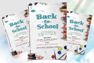 Back 2 School Free PSD Flyer Template