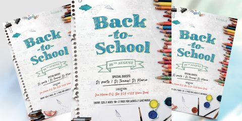 Back 2 School Free PSD Flyer Template