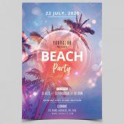 Beach Event - Free Summer PSD Flyer Template