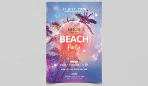 Beach Event – Free Summer PSD Flyer Template