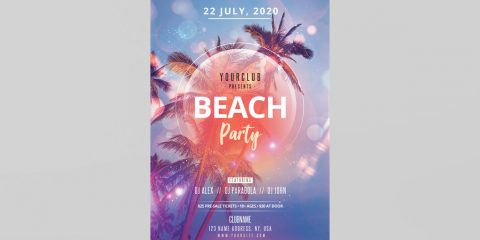 Beach Event - Free Summer PSD Flyer Template