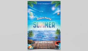 Beach Party Freebie PSD Flyer Template