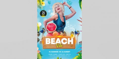 Beach Time Free PSD Flyer Template
