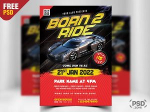 Car Show Party Flyer PSD Template