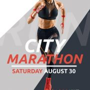 City Marathon Free PSD Flyer Template