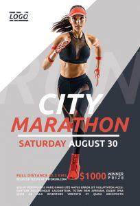City Marathon Free PSD Flyer Template