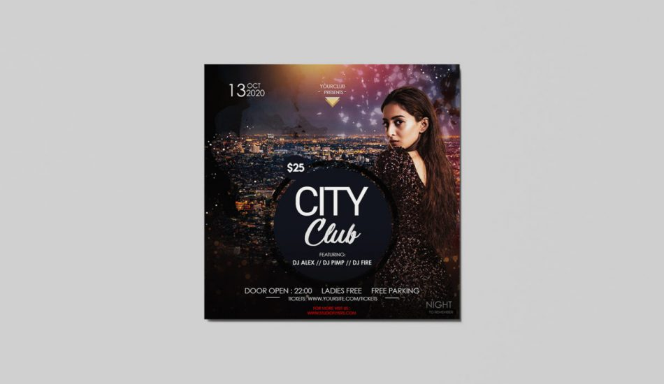 City Party Free Instagram PSD Flyer Template