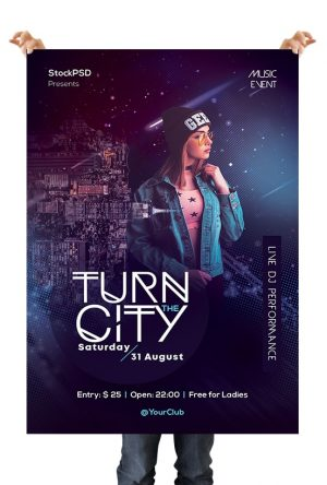 City Party PSD Free Flyer Template