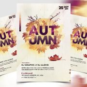 Clean Autumn Fall Festival Free Flyer Template