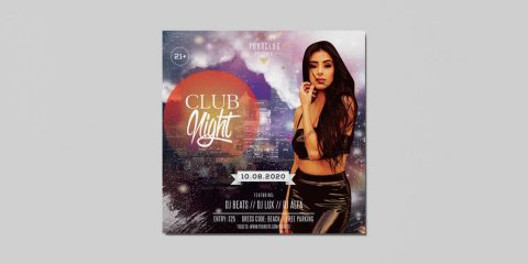 Club Night DJ Free PSD Flyer Template
