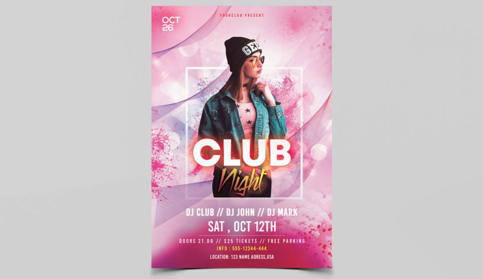 Club Vibe PSD Free Flyer Template