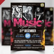 Concert Event Free PSD Flyer Template