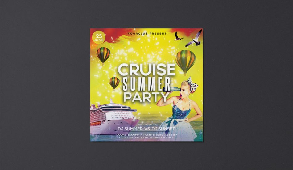 Cruise or Yacht Summer Free PSD Flyer Template