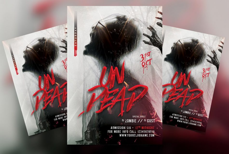 Dead Halloween Free PSD Flyer Template