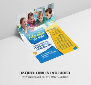 Education School Kids Free PSD Flyer Template