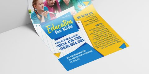 Education School Kids Free PSD Flyer Template