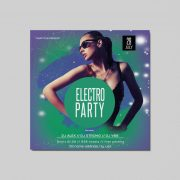 Electro Party DJ Free PSD Flyer Template