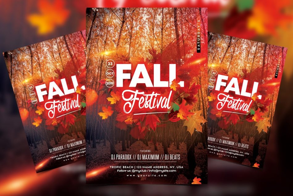 Fall Festival - Free Autumn PSD Flyer Template