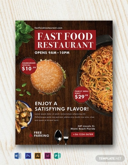 Fast Food Ad Free PSD Flyer Template
