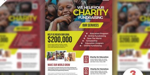 Free Charity Fundraisers PSD Flyer Template