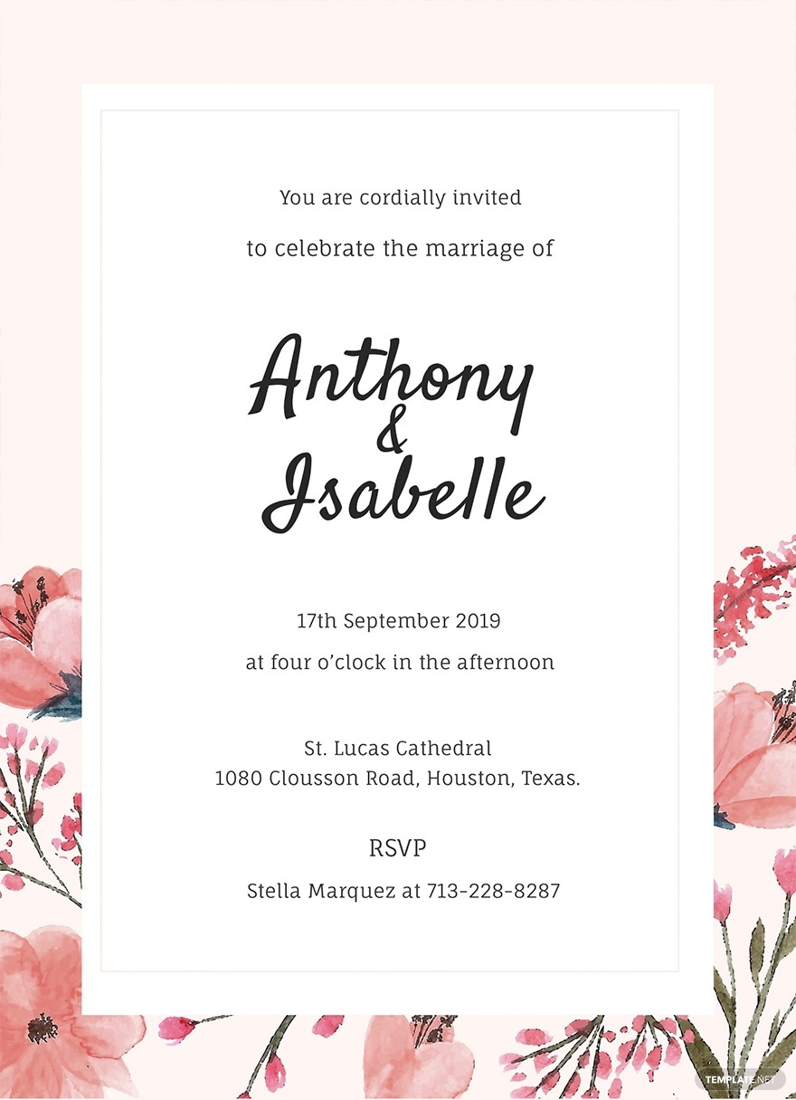 Free Wedding Invitation PSD Flyer Template