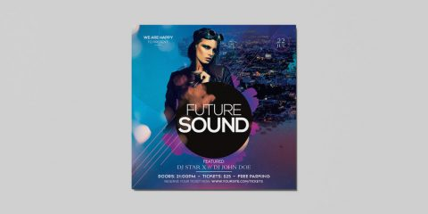 Future Club Sound Free PSD Flyer Template