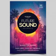 Future Sound DJ Free PSD Flyer Template